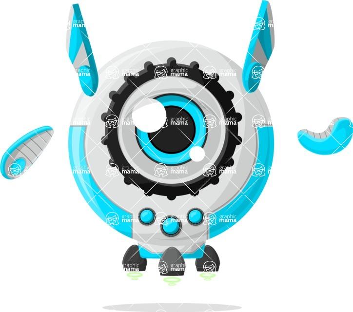 Robot Cartoon Graphic Maker - pose 60