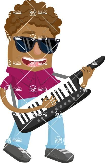 Musician Vector Graphics Maker - Musician 46
