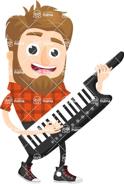 Musician Vector Graphics Maker - Misician 58