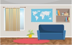 Room Backgrounds Vector Collection - Vector Living Room Background