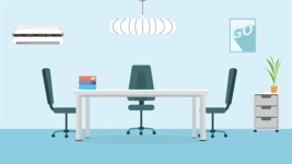 Room Backgrounds Vector Collection - Meeting Room Interior Vector Background
