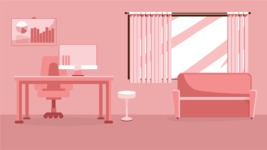 Room Backgrounds Vector Collection - Vector Home Office Interior Background