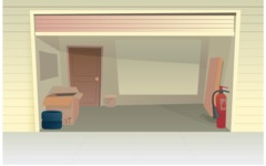 Room Backgrounds Vector Collection - Garage Interior Vector Background