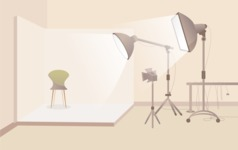 Room Backgrounds Vector Collection - Photo Studio Vector Interior Background