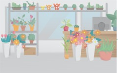 Room Backgrounds Vector Collection - Flower Shop Interior Vector Background