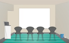 Room Backgrounds Vector Collection - Presentation Room with Chairs Vector Background