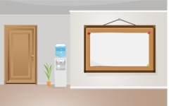 Room Backgrounds Vector Collection - Office Room Interior with Whiteboard