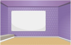 Room Backgrounds Vector Collection - Vector Presentation Room Illustration