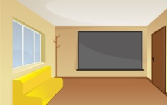 Room Backgrounds Vector Collection - Waiting Room Vector Background