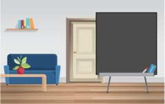 Room Backgrounds Vector Collection - Room with Blackboard Vector Background