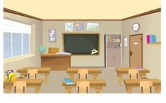 Room Backgrounds Vector Collection - Classroom Vector Background