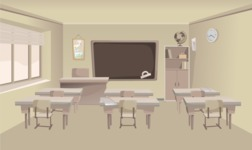 Room Backgrounds Vector Collection - Cartoon Classroom Background