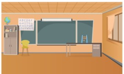 Room Backgrounds Vector Collection - Empty Classroom Vector Illustration