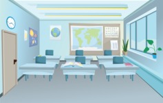 Room Backgrounds Vector Collection - Modern Classroom Vector Background