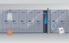 Room Backgrounds Vector Collection - Locker Room Vector Background