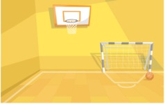 Room Backgrounds Vector Collection - Cartoon School Gym Hall Vector Background