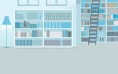 Room Backgrounds Vector Collection - Clean Book Library Vector Background
