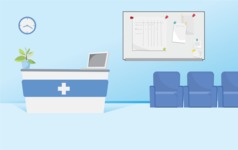 Room Backgrounds Vector Collection - Hospital Reception Vector Background