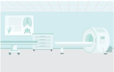 Room Backgrounds Vector Collection - MRI Room Vector Background