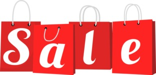 Sale Sign Shopping Bags