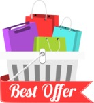 Best Offer Basket of Shopping Bags