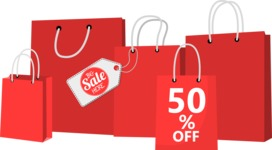 Sale Offer Shopping Bags