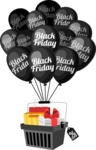 Black Friday Basket and Balloons