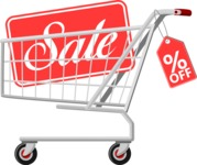 Sale Signs and Carts: Boost My Sales! - Shopping Cart with Sale Sign