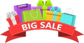 Sale Signs and Carts: Boost My Sales! - Big Sale Shopping Bags and Gifs