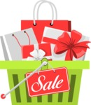 Sale Signs and Carts: Boost My Sales! - Basket of Gifts Sale Sign