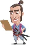 Samurai Warrior Cartoon Vector Character AKA Hattori - Notepad 2