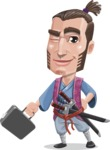 Samurai Warrior Cartoon Vector Character AKA Hattori - Briefcase 1