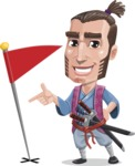 Samurai Warrior Cartoon Vector Character AKA Hattori - Checkpoint