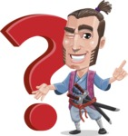 Samurai Warrior Cartoon Vector Character AKA Hattori - Question