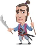 Samurai Warrior Cartoon Vector Character AKA Hattori - Under Construction