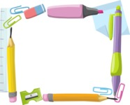 School Accessories Frame