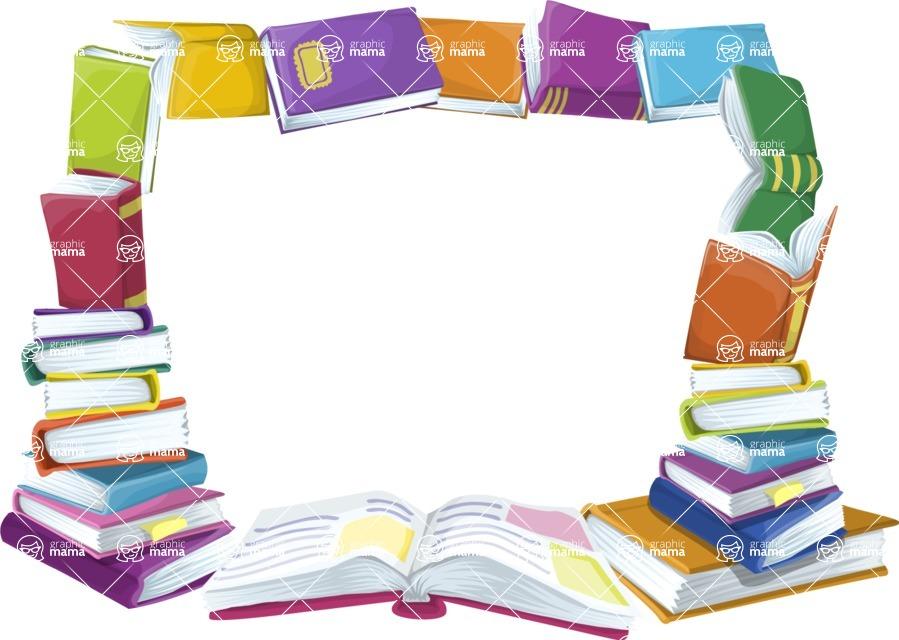 School Books Frame
