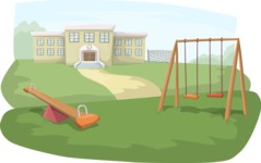 School Playground Scenery