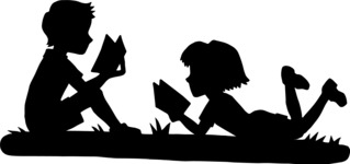 Reading Kids Silhouette
