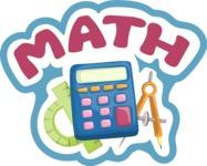 Math School Sticker