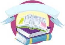 School Books Sticker