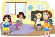 Pupils in Elementary Classroom
