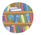 School vector graphics pack - editable schoolboy, schoolgirl, pupil, teacher characters, items, icons, illustrations, backgrounds, scenes - Book Shelf