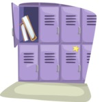 School vector graphics pack - editable schoolboy, schoolgirl, pupil, teacher characters, items, icons, illustrations, backgrounds, scenes - School Lockers