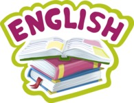 School vector graphics pack - editable schoolboy, schoolgirl, pupil, teacher characters, items, icons, illustrations, backgrounds, scenes - School Sticker English
