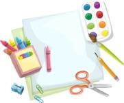 School vector graphics pack - editable schoolboy, schoolgirl, pupil, teacher characters, items, icons, illustrations, backgrounds, scenes - Set of Painting Tools