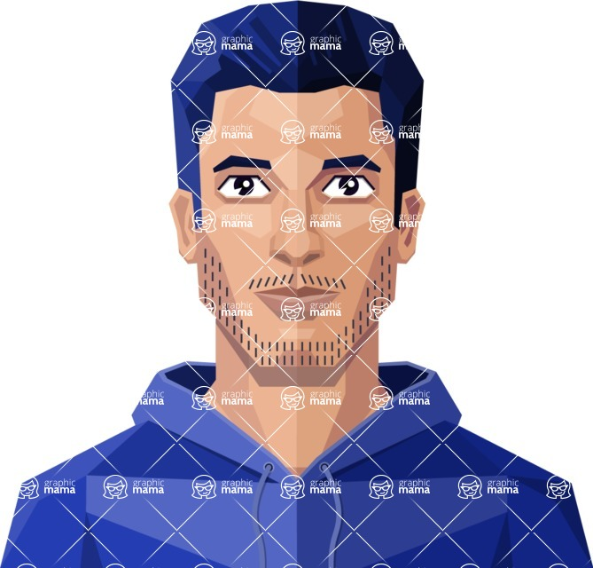 DIY Low Poly Geometric Characters: Men - Avatar 1