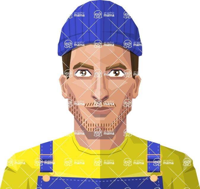 DIY Low Poly Geometric Characters: Men - Avatar 14