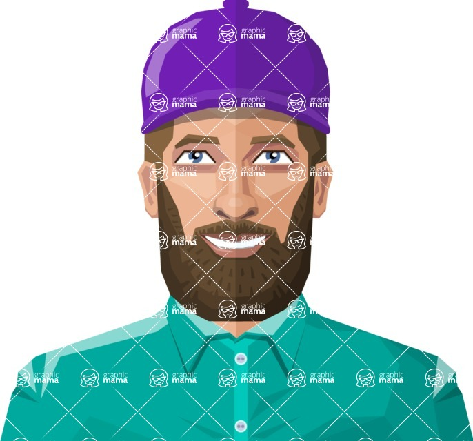 DIY Low Poly Geometric Characters: Men - Avatar 7