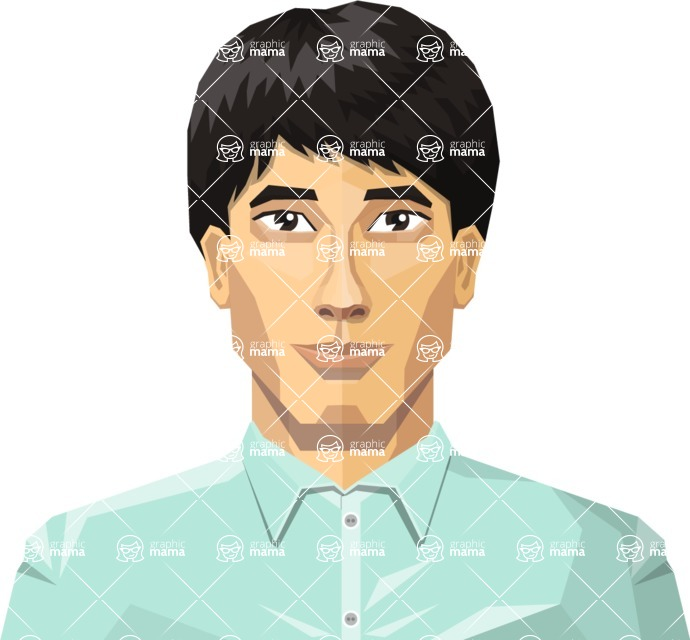 DIY Low Poly Geometric Characters: Men - Avatar 8